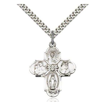 four way catholic medal