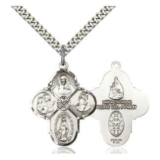 Sterling Silver 4-Way Cross Pendant