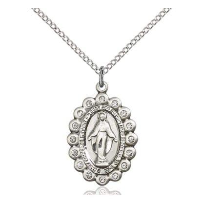 S14 Karat Gold Miraculous Medal Pendant