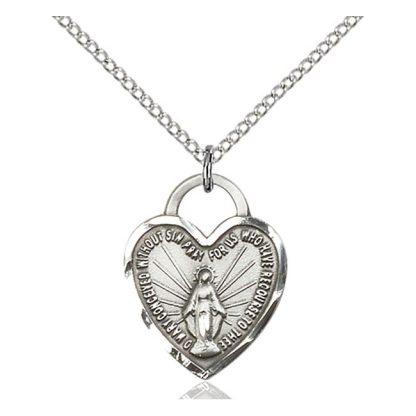 Miraculous Heart Medal Pendant