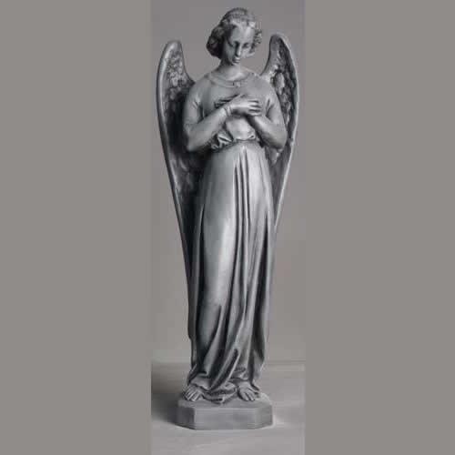 Catholic old stone statue