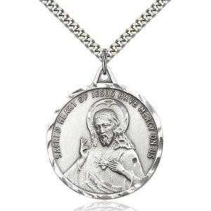 Jesus Christ Scapular Medal Pendant