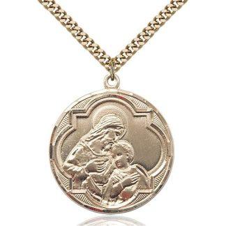 Jesus Christ Gold Medal Pendant