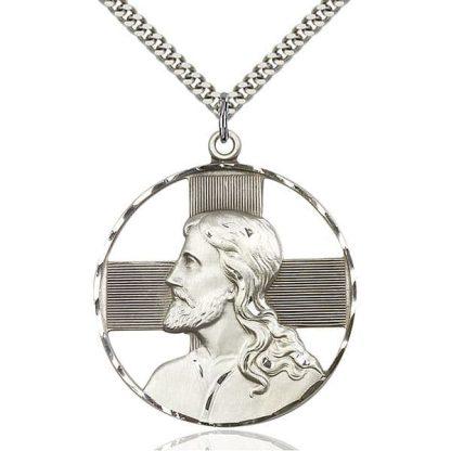 Jesus Christ Profile Medal Pendant
