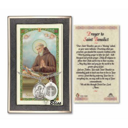 Saint Benedict Prayer Card