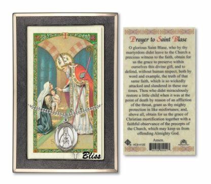 Saint Blaise Prayer Card