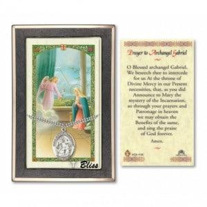 Saint Gabriel the Archangel Prayer Card