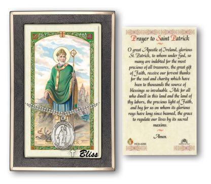 St Patrick Holy Card