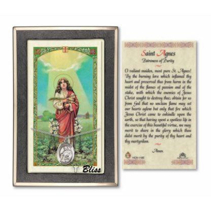 Saint Agnes of Rome Prayer Card