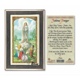 Our Lady of Fatima Prayer Card