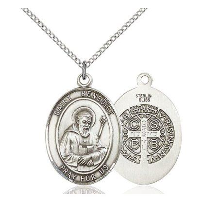 St Benedict Sterling Silver Medal