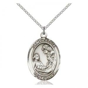 Saint Cecilia Medal 7016 Silver