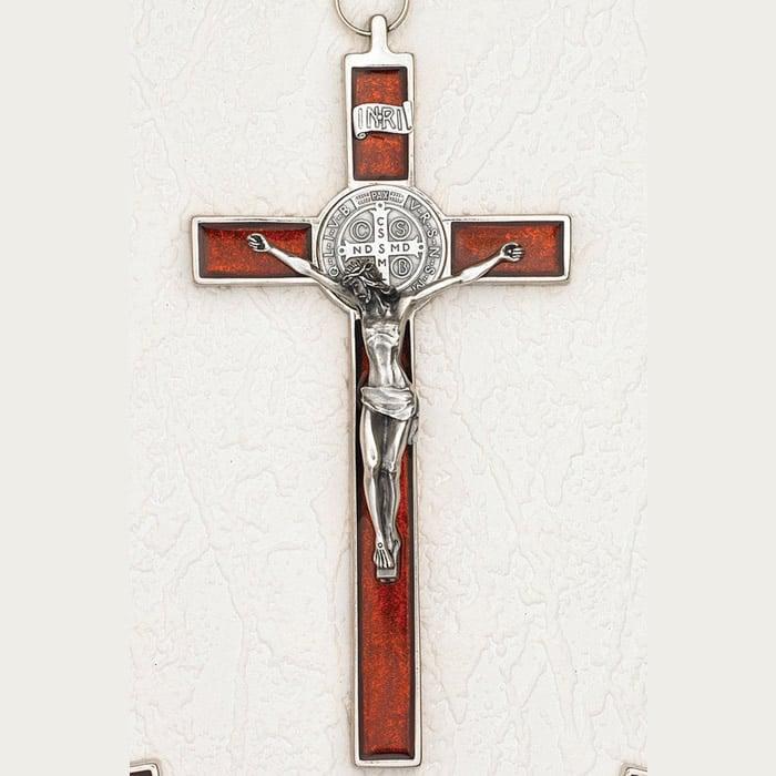 d7a54900 St. Benedict Pearl Red Crucifix 8