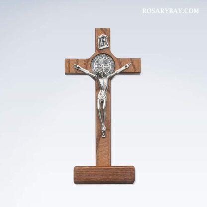 Standing Saint Benedict Crucifix