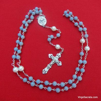 Angelite Rosary Handmade Rosaries