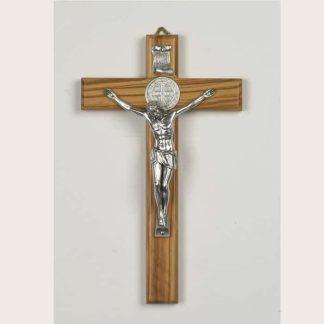 Olive Wood Saint Benedict Crucifix