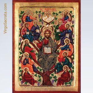 Jesus Tree of Life Hand-Painted Icon