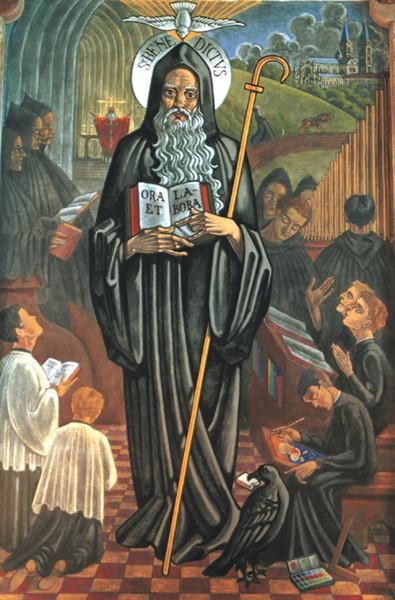 "St-Benedict Rules: ""Ora et labora"", ""Pray and Labor""."