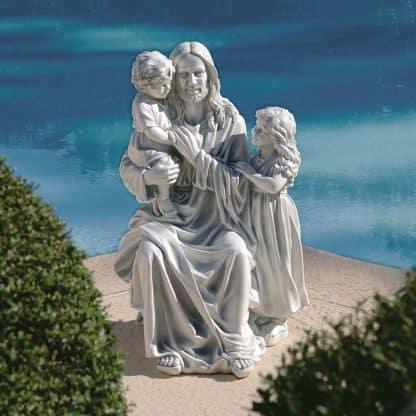 Smiling Christ Statue