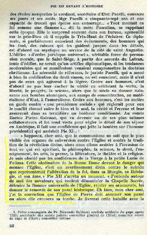 Pie XII devant l'Histoire, Paris: Robert Lafont, 1972, p. 52-53