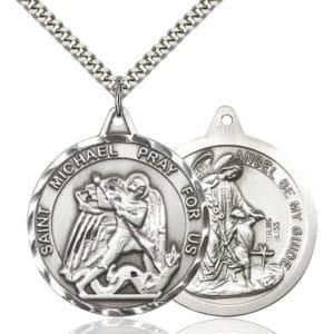 Necklace: Saint Michael, Pray For Us