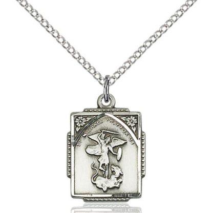 St. Michael the Archangel Hand-Engraved Medal Pendant