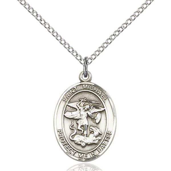 Sterling silver gold saint michael medal protection pendants protection pendants aloadofball Choice Image