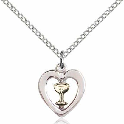 Communion Heart Chalice Pendant