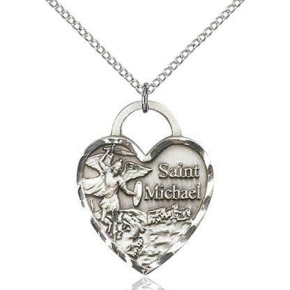 Sterling Silver Heart Medallion