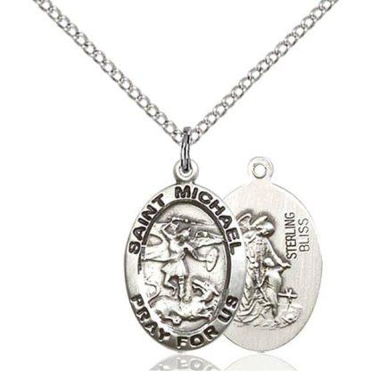 Sterling Silver Saint Michael the Archangel Pendant