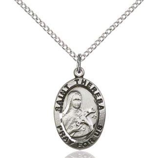 Saint Theresa Medal Pendant