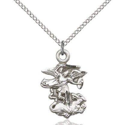 Medal Pendant of Saint Michael Fighting the Dragon