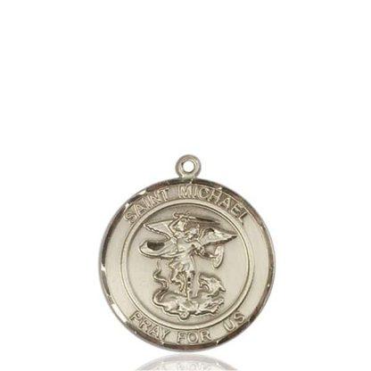 Saint Michael 14K Gold Pendant