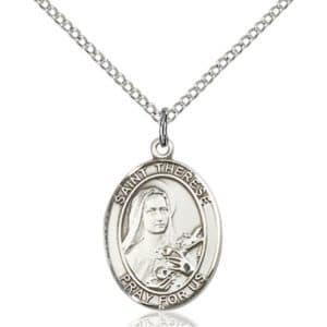 St.Theresa (Teresa) Medal St. Theresa Pendants, Saint Theresa Necklace