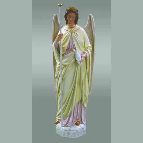 """St Raphael Archangel Statue: Realistic Saint Raphael The Archangel Statue 58"""" High"""