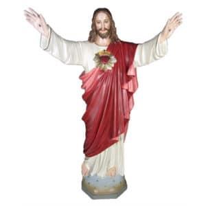 Jesus Sacred Heart Blessing Statue