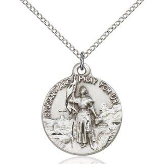 St Joan of Arc Sterling Silver Pendant
