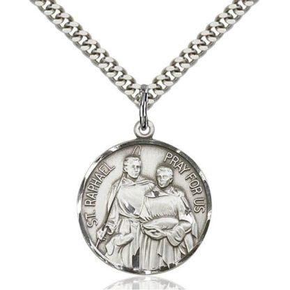 St Raphael Medal Pendant