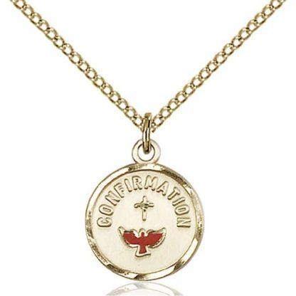 18 Karat Gold Confirmation Medal