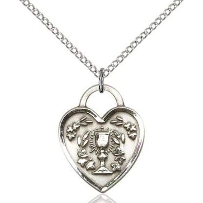 Holy Communion Heart Pendant