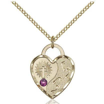 Birthstone Heart Jewellery