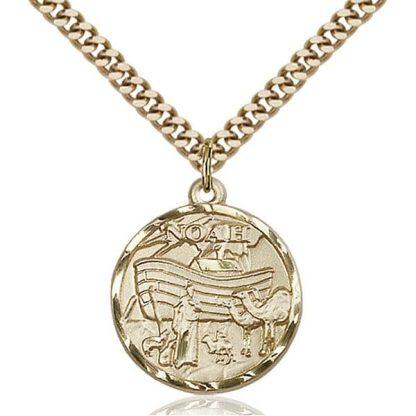 Noah Gold Medal Pendant