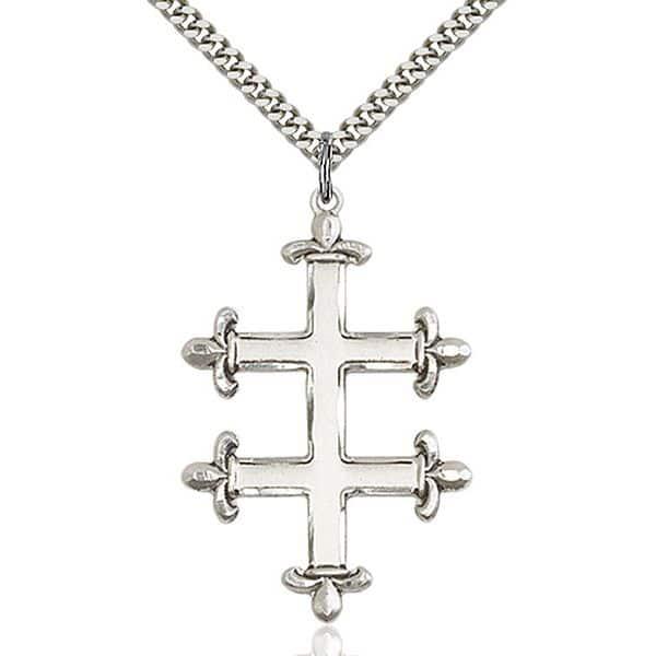 Cross of Lorraine Necklace Pendant ☨ Croix de Lorraine