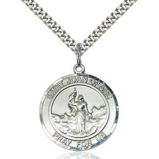 St Joan of Arc Medal Pendant for Men