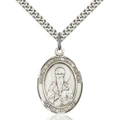 Saint Basil the Great Medal Pendant
