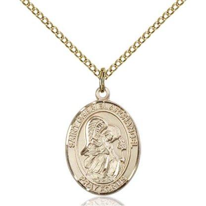 St Gabriel Gold Medal Pendant
