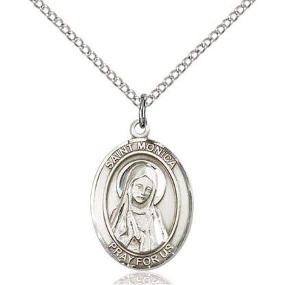 St Monica Medal Necklace