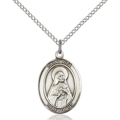 St Rita Medal Necklace