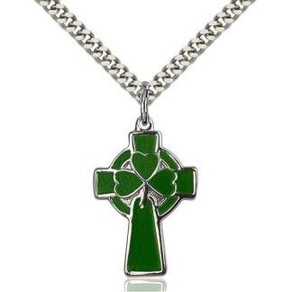 Green Celtic Cross