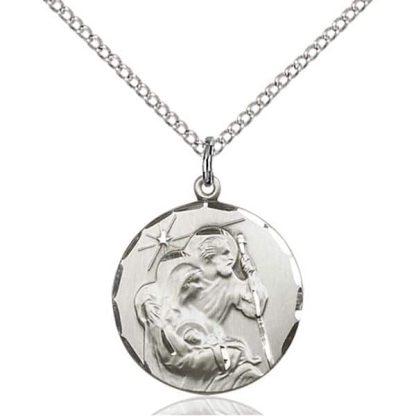 14K white gold pendant